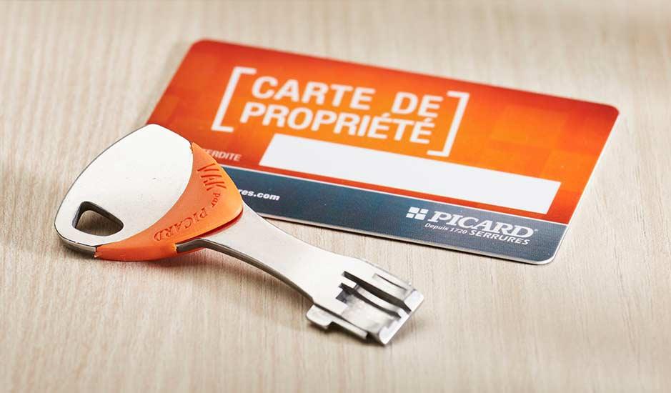 Carte de propriété : reproduction de clés